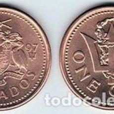 Monedas antiguas de América: BARBADOS – 1 CENT 1997, KM 10A, CALIDAD EBC. Lote 236668645