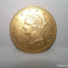 Monedas antiguas de América: 10 DOLARES DE ORO...LIBERTY.....USA....AÑO..1889. Lote 236970475