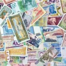 Monedas antiguas de América: GRAN LOTE DE BILLETES DEL MUNDO. SIN CIRCULAR.. AUTÉNTICOS. DE LOS 5 CONTINENTES. Lote 237014810