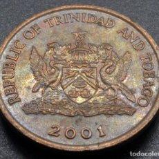 Monedas antiguas de América: TRINIDAD Y TOBAGO, 5 CENTAVOS 2001. Lote 237027025