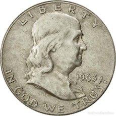 Monedas antiguas de América: ESTADOS UNIDOS, FRANKLIN HALF DOLLAR, HALF DOLLAR, 1963, U.S. MINT, DENVER, MBC. Lote 237028645