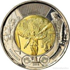 Monedas antiguas de América: MONEDA, CANADÁ, 2 DOLLARS, 2014, ROYAL CANADIAN MINT, WAIT FOR ME, DADDY, SC. Lote 237028805