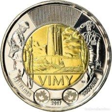 Monedas antiguas de América: MONEDA, CANADÁ, 2 DOLLARS, 2017, ROYAL CANADIAN MINT, VIMY, SC, BIMETÁLICO. Lote 237028980