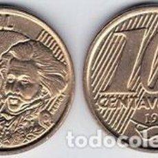Monedas antiguas de América: BRASIL – 10 CENTAVOS 2013, KM 649.3, CALIDAD EBC+. Lote 237199290