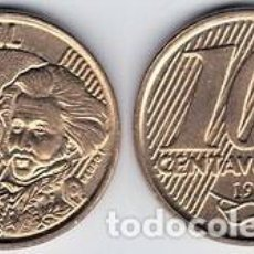 Monedas antiguas de América: BRASIL – 10 CENTAVOS 2016, KM 649.3, CALIDAD EBC. Lote 237199350