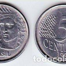 Monedas antiguas de América: BRASIL – 5 CENTAVOS 1996, KM 632, CALIDAD EBC. Lote 237199520