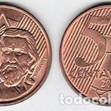 Monedas antiguas de América: BRASIL – 5 CENTAVOS 2004, KM 648.1, CALIDAD EBC+. Lote 237200025