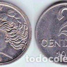 Monedas antiguas de América: BRASIL – 2 CENTAVOS 1969, KM 576.2, CALIDAD EBC+. Lote 237201085