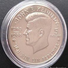 Monedas antiguas de América: INTERESANTE MONEDA DEL PRESIDENTE J F KENNEDY CON LA FRASE EN ALEMAN ICH BIN EIN BERLINER. Lote 237338745