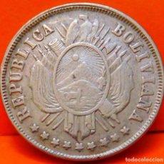 Monedas antiguas de América: BOLIVIA, 20 CENTAVOS, 1883. PLATA. (782). Lote 237708890