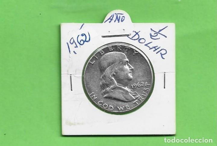 P'LATA-USA. 1/2 DOLLAR 1962. 12,5 GRAMOS DE LEY 0,900. KM#199 (Numismática - Extranjeras - América)