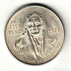 Monedas antiguas de América: MEXICO 100 PESOS PLATA 1978 KM# 483. Lote 238252960