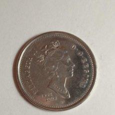 Monedas antiguas de América: CANADA 25 CENTS, ELIZABETH II. AÑO 1952.. Lote 238275880