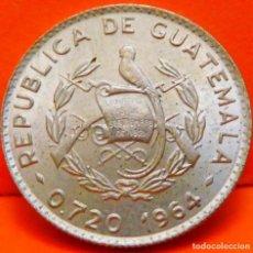 Monedas antiguas de América: GUATEMALA, 5 CENTAVOS, 1964. PLATA. BRILLANTE SC. (805). Lote 238309135
