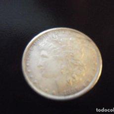 Monedas antiguas de América: MONEDA MORGAN PLURIBUS DE PLATA ONE DOLLARD 1889 - 18 GRAMOS-NUEVA ORLEAN (8 PLUMAS). Lote 238688965