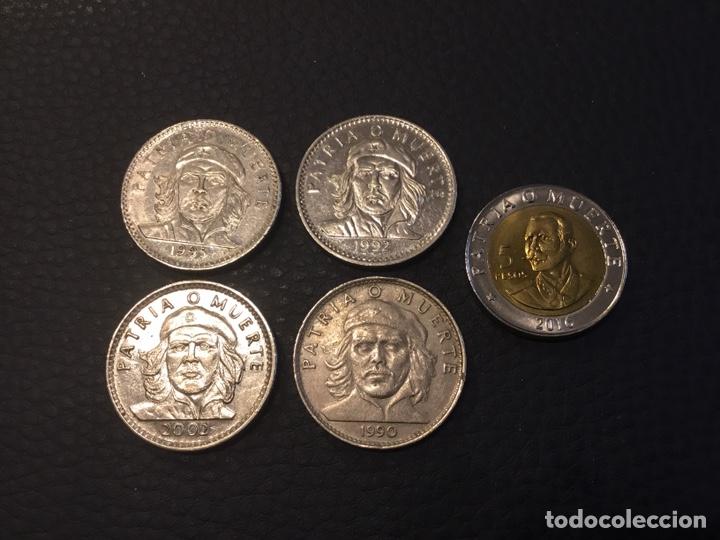 CUBA 5 MONEDAS . 4 DE 3 PESOS CHE GUEVARA Y 1 5 PESOS 2016 (Numismática - Extranjeras - América)