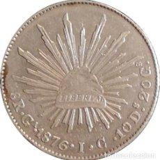 Monedas antiguas de América: MÉXICO. 8 REALES. 1.876 (IC) GUADALAJARA. PLATA. Lote 240067120