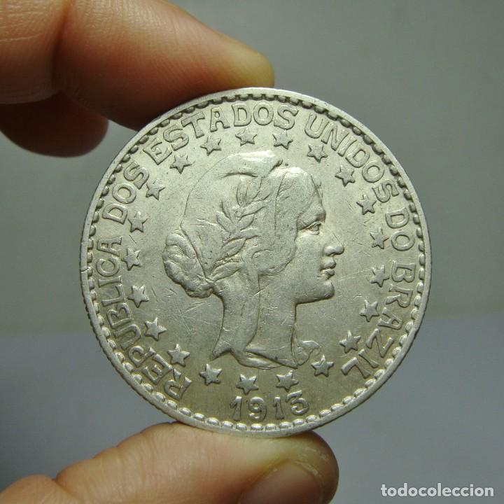 2000 REIS. PLATA. REPÚBLICA DE BRASIL - 1913 (Numismática - Extranjeras - América)