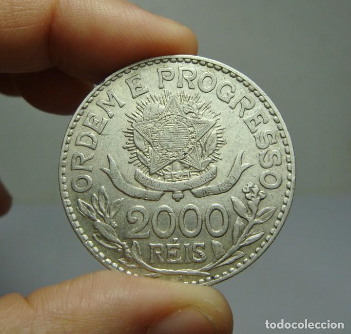 Monedas antiguas de América: 2000 Reis. Plata. República de Brasil - 1913 - Foto 2 - 242284795