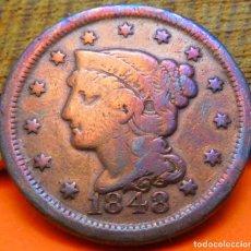 Monedas antiguas de América: ESTADOS UNIDOS, CENTAVO, 1848. (881). Lote 242886675