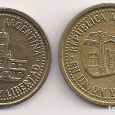 Monedas antiguas de América: ARGENTINA - 25 Y 50 CENTAVOS 1993 - KM#110.2 - 111.2. Lote 242991120