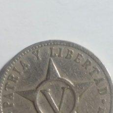 Monedas antiguas de América: MONEDA DE CUBA 1920 5 CENTAVOS. Lote 243493755