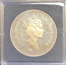 Monedas antiguas de América: CANADÁ, MONEDA DE 1 DÓLAR DEL AÑO 1992. Lote 243532175