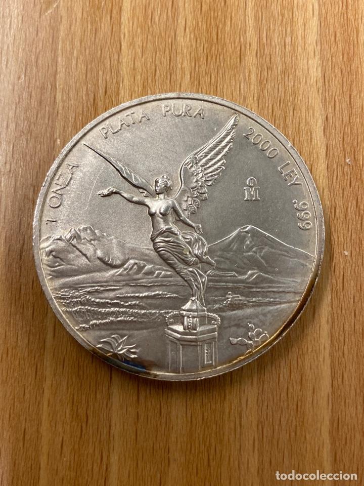 ONZA DE PLATA PURA MEXICO AÑO 2000 (Numismática - Extranjeras - América)