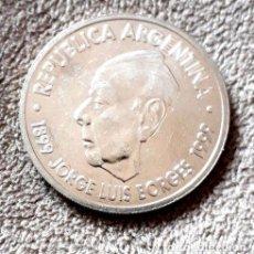 Monedas antiguas de América: MONEDA CONMEMORATIVA JORGE LUIS BORGES SIN CIRCULAR. Lote 244101010