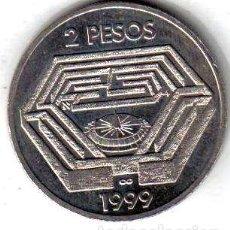 Monedas antiguas de América: MONEDA 2 PESOS DE JORGE LUIS BORGES EXCELENTE. Lote 244126270