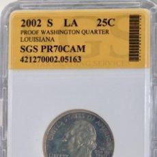 Monedas antiguas de América: VEINTICINCO CÉNTIMOS USA, 2002 ENCAPSULADO. Lote 244540130