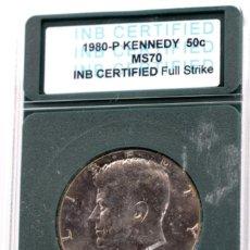 Monedas antiguas de América: VEINTICINCO CÉNTIMOS USA, 1980 ENCAPSULADO. Lote 244541350