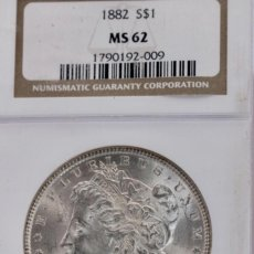 Monedas antiguas de América: UN DÓLAR USA, 1882 PLATA, ENCAPSULADO. Lote 244541785