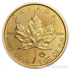 Monedas antiguas de América: MONEDA DE ORO MAPLE LEAF 2021 1 OZ. Lote 244601500