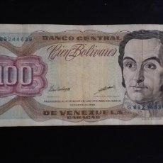 Monedas antiguas de América: BILLETE DE100 BOLIVARES VENEZUELA AÑO 1998. Lote 244767480