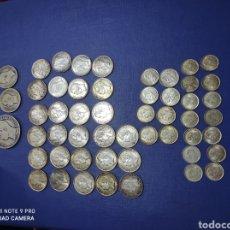 Monedas antiguas de América: OFERTA 52 MONEDAS DE PLATA DE VENEZUELA DE 5 ,2,1 BOLIVAR Y 50 Y 25 CTS, PRÁCTICAMENTE TODAS S/C. Lote 244774825