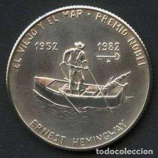 Monete antiche di America: CUBA, MONEDA DE PLATA, ERNEST HEMINGWAY, VALOR: 5 PESOS, 1982. Lote 244854245