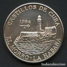 Monete antiche di America: CUBA, MONEDA DE PLATA, CASTILLOS DE CUBA, VALOR: 5 PESOS, 1984. Lote 244856260