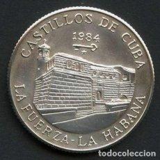 Monete antiche di America: CUBA, MONEDA DE PLATA, CASTILLOS DE CUBA, VALOR: 5 PESOS, 1984. Lote 244856540