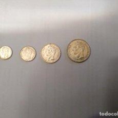 Moedas antigas da América: MONEDAS-SERIE DE 4 MONEDAS DE PLATA DE VENEZUELA-2 BOL .+ 1 BOL. + 5=CTS BOL.+ 25 CTS .PERFECTAS.. Lote 244896055