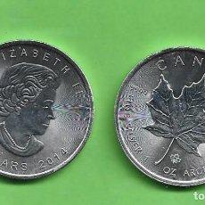 Monedas antiguas de América: ONZA DE PLATA PURA DE CANADA. 5 DOLLARS 2014. Lote 244919980