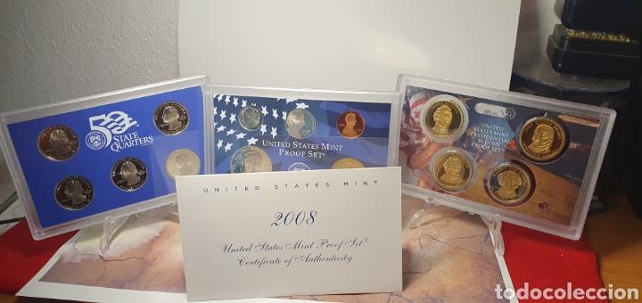 SET MONEDAS ESTADOS UNIDOS 2008 CALIDAD PROOF EDICION QUE INCLUILLE SET QUARTERS CONMEMORATIVOS (Numismática - Extranjeras - América)
