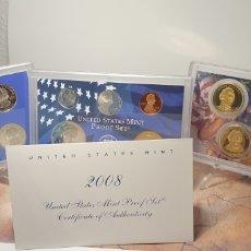 Monedas antiguas de América: SET MONEDAS ESTADOS UNIDOS 2008 CALIDAD PROOF EDICION QUE INCLUILLE SET QUARTERS CONMEMORATIVOS. Lote 245366300