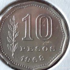 Monedas antiguas de América: ARGENTINA 10 PESOS 1968. Lote 245403840