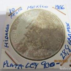 Monete antiche di America: MEXICO 10 PESOS 1956. PLATA LEY 900. GRAMOS 28,8. HIDALGO. (BC). Lote 245427060
