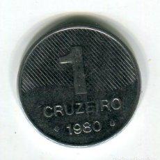 Monedas antiguas de América: BRASIL 1 CRUZEIRO AÑO 1980. Lote 246014270