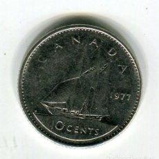 Monedas antiguas de América: CANADA 10 CENTS AÑO 1977. Lote 246015090