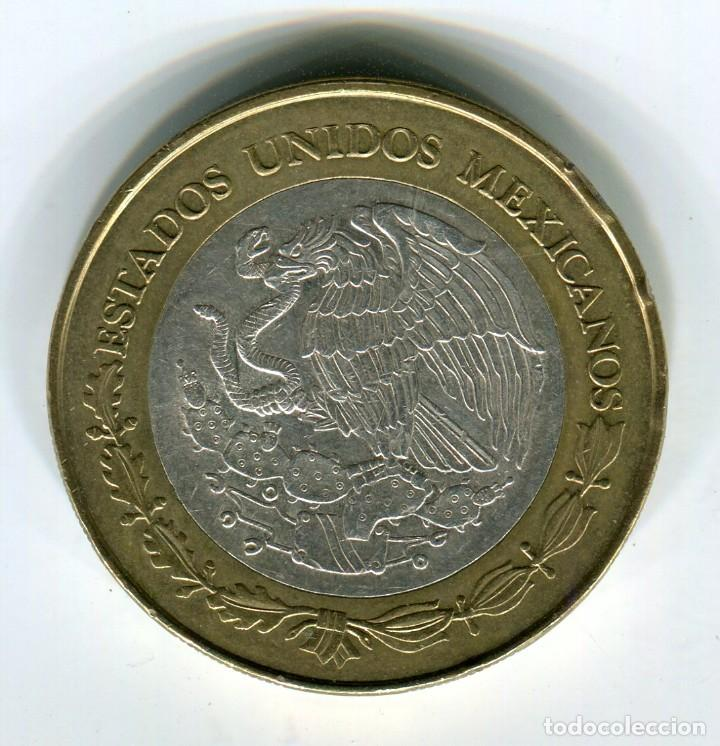 Monedas antiguas de América: MEXICO 100 PESOS ZACATECAS AÑO 2007 METAL BRONCE/PLATA - Foto 2 - 246016480