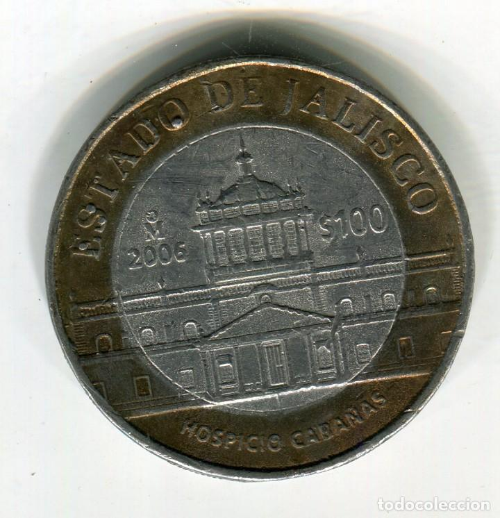MEXICO 100 PESOS ESTADO DE JALISCO AÑO 2006 METAL BRONCE/PLATA (Numismática - Extranjeras - América)