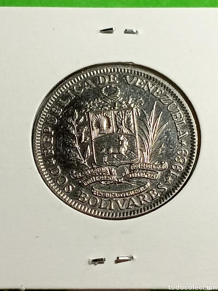 Monedas antiguas de América: Venezuela. 2 bolívares de 1989 - Foto 3 - 246016990